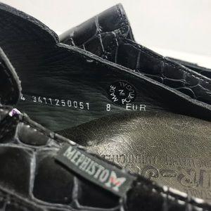 Mephisto Shoes - Mephisto navy blue crocodile slip on loafers sz 8